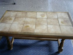 Table basse carrelage
