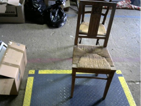 Chaise assise paille
